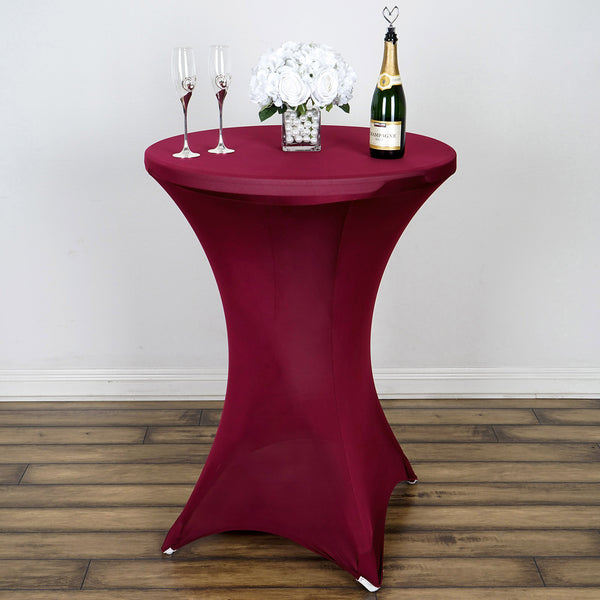 Burgundy Cocktail Spandex Table Cover