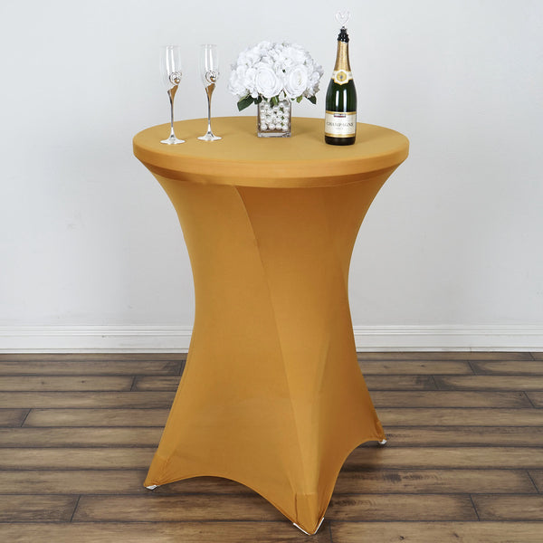 Gold Cocktail Spandex Table Cover