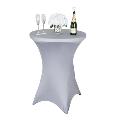Cocktail Spandex Table Cover - Silver