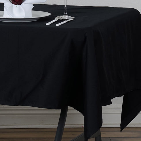 "Chambury Casa *100% Cotton Tablecloth - 60x102"" Black"