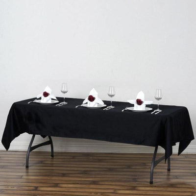 "60x102"" Rectangle Chambury Casa 100% Cotton Tablecloth - Black"