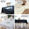 "60""x102"" White Rectangle Chambury Casa 100% Cotton Tablecloth"