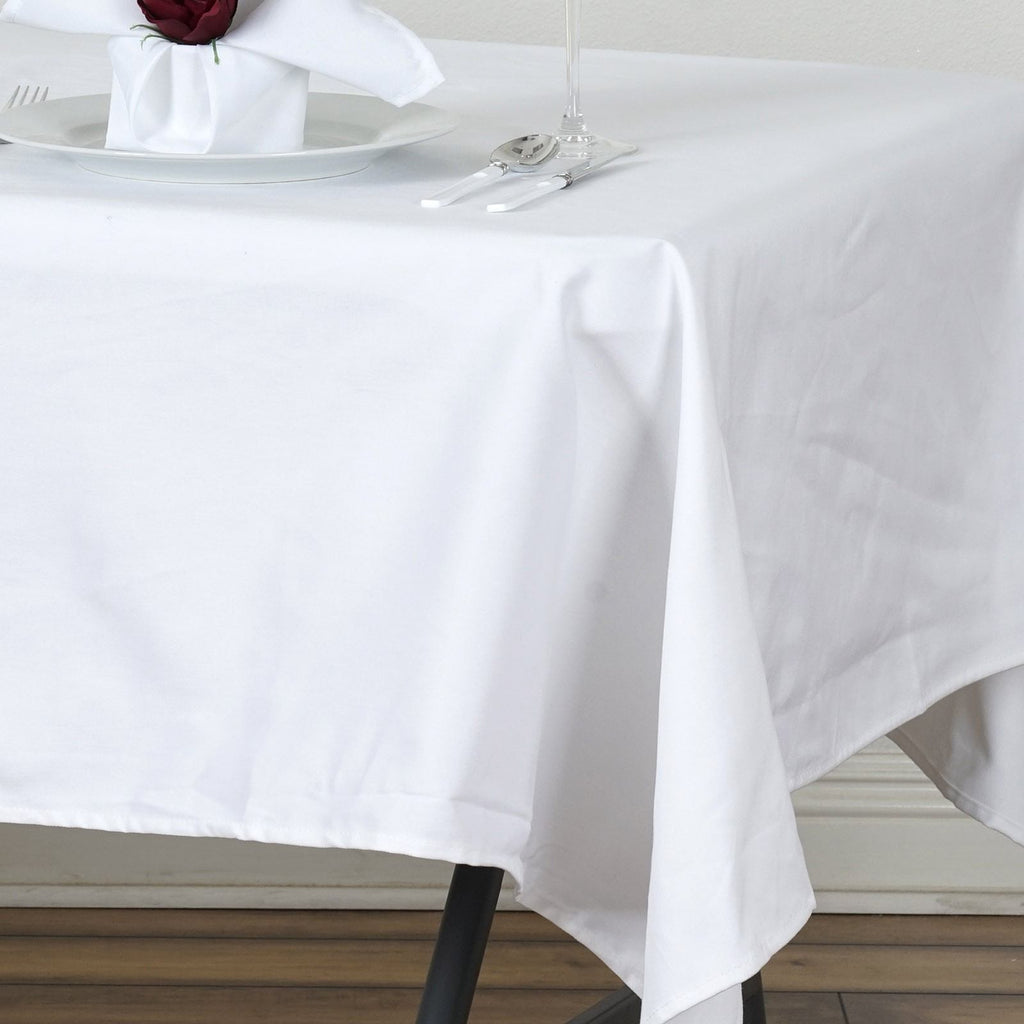 "Chambury Casa *100% Cotton Tablecloth - 60x102"" White"