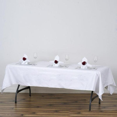 "60x102"" Rectangle Chambury Casa 100% Cotton Tablecloth - White"