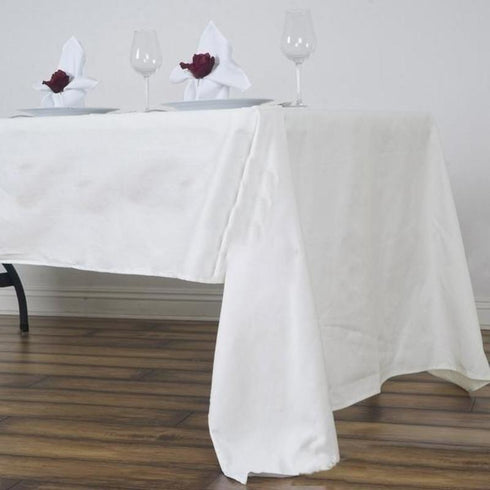 "60x126"" Rectangle Chambury Casa 100% Cotton Tablecloth - Ivory"