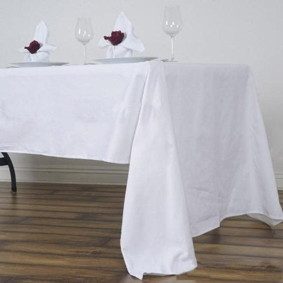 "60x126"" Rectangle Chambury Casa 100% Cotton Tablecloth - White"