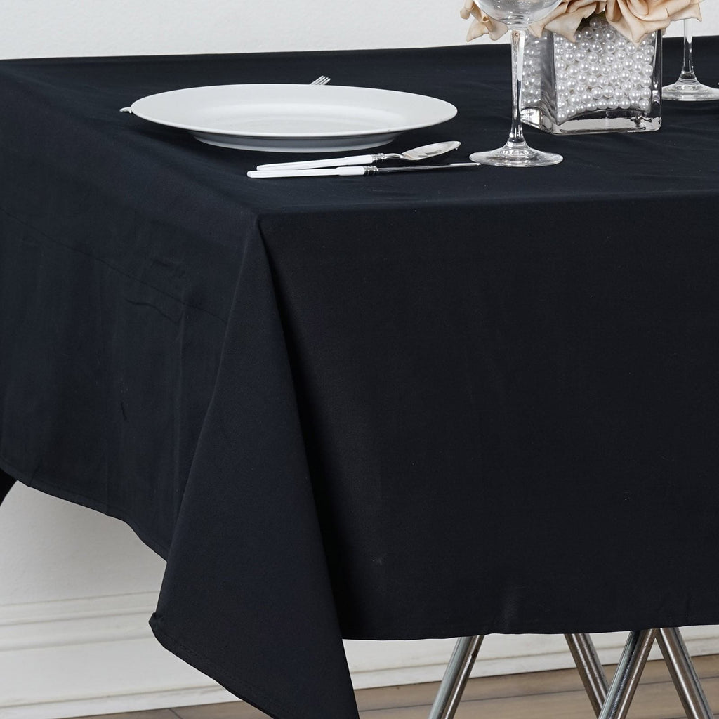 "Chambury Casa *100% Cotton Tablecloth- 60"" Square Tablecloth Black"