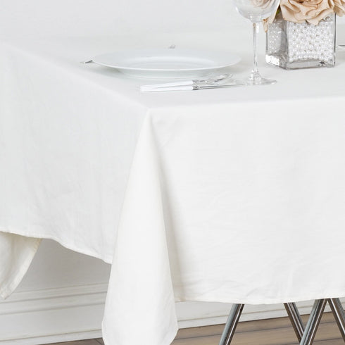 "Chambury Casa *100% Cotton Tablecloth- 60"" Square Tablecloth Ivory"