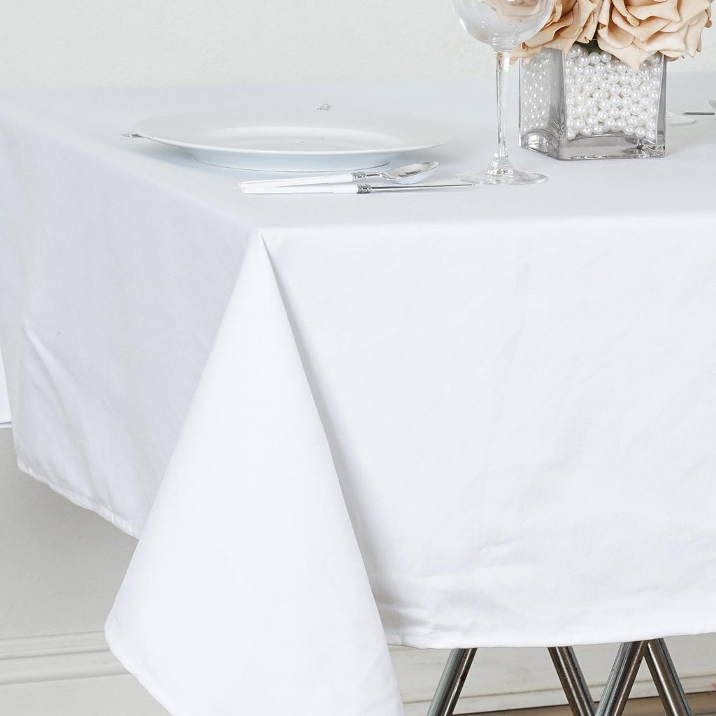 "Chambury Casa *100% Cotton Tablecloth- 60"" Square Tablecloth White"