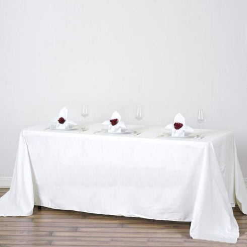 "90x132"" Rectangle Chambury Casa 100% Cotton Tablecloth - Ivory"