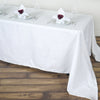 "90x156"" White Rectangle Chambury Casa 100% Cotton Tablecloth"
