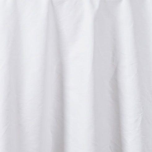 "108"" White Round Chambury Casa 100% Cotton Tablecloth"