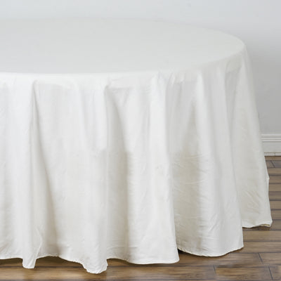 "120"" Ivory Round Chambury Casa 100% Cotton Tablecloth"