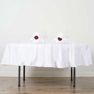 "Chambury Casa *100% Cotton Tablecloth- 70"" Round White"