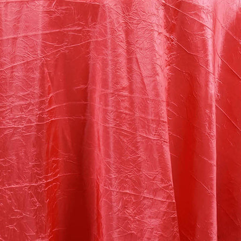 "Coral 117"" Crinkle Taffeta Round Tablecloth"