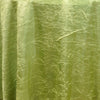 "Apple Green 117"" Crinkle Taffeta Round Tablecloth"