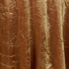 "Gold 117"" Crinkle Taffeta Round Tablecloth"