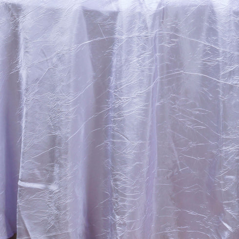 "Lavender 117"" Crinkle Taffeta Round Tablecloth"