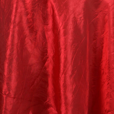 "Red 117"" Crinkle Taffeta Round Tablecloth"