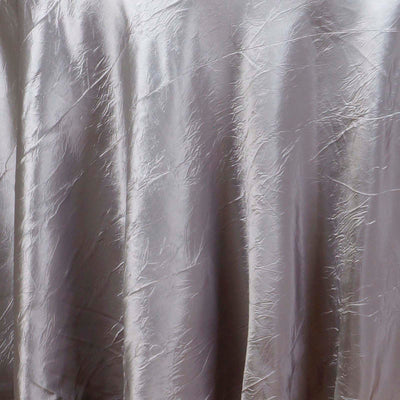 "Silver 117"" Crinkle Taffeta Round Tablecloth"
