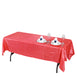 60x102 Coral Crinkle Crushed Taffeta Rectangular Tablecloth