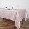60x102 Crinkle Crushed Taffeta Rectangular Tablecloth - Rose Gold | Blush