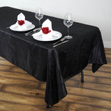 Black 60x102 Crinkle Taffeta Tablecloths