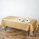"60x102"" Champagne Crinkle Taffeta Rectangular Tablecloth"