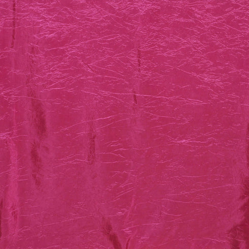"60x102"" Fushia Crinkle Crushed Taffeta Rectangular Tablecloth"