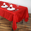 "Red 60x102"" Crinkle Taffeta Tablecloths"
