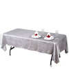 "60x102"" Silver Crinkle Taffeta Rectangular Tablecloth"