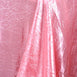 "60x126"" Rose Quartz Crinkle Taffeta Rectangular Tablecloth"