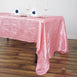 "60x126"" Rose Quartz Crinkle Crushed Taffeta Rectangular Tablecloth"