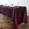 "60x126"" Burgundy Crinkle Crushed Taffeta Rectangular Tablecloth"