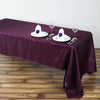 "60x126"" Eggplant Crinkle Taffeta Rectangular Tablecloth"