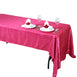 "60x126"" Fushia Crinkle Taffeta Rectangular Tablecloth"
