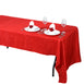 "60x126"" Red Crinkle Taffeta Rectangular Tablecloth"