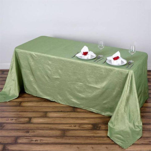 "90x132"" Crinkle Taffeta Tablecloth - Apple Green"