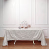 "90x132"" Ivory Crinkle Crushed Taffeta Rectangular Tablecloth"