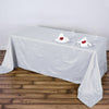 "90x132"" White Crinkle Crushed Taffeta Rectangular Tablecloth"