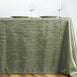 "90x156"" Apple Green Crinkle Crushed Taffeta Rectangular Tablecloth"