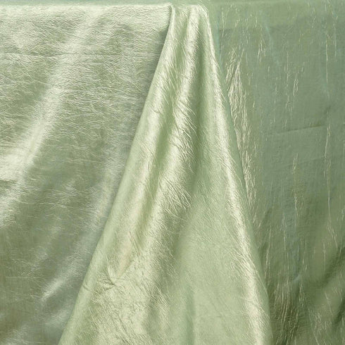 "Apple Green 90x156"" Crinkle Taffeta Tablecloth"