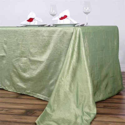 "90x156"" Crinkle Taffeta Tablecloth - Apple Green"
