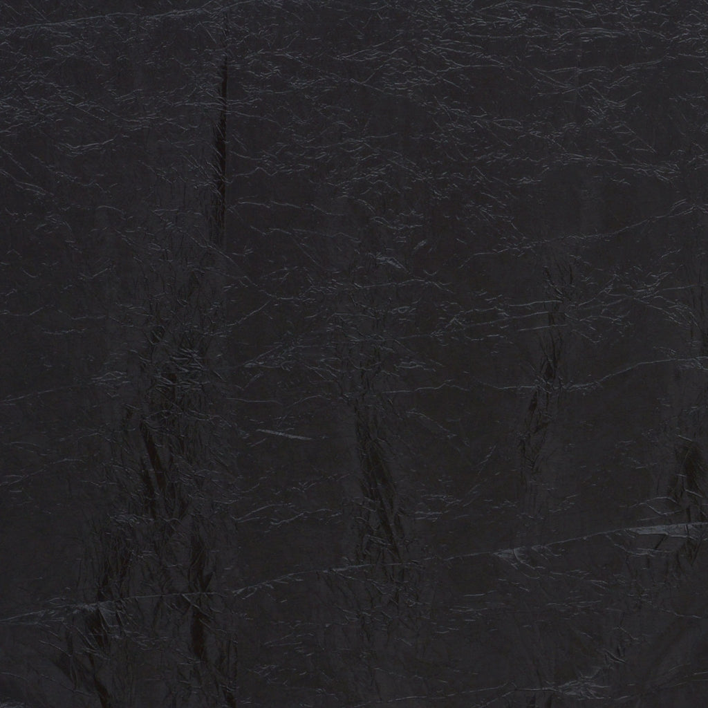 "Black 90x156"" Crinkle Taffeta Tablecloth"