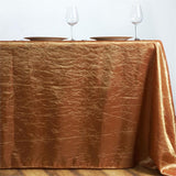 "Gold 90x156"" Crinkle Taffeta Tablecloth"