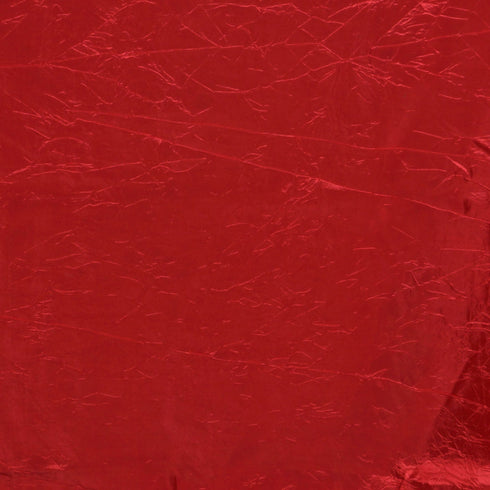 "Red 90x156"" Crinkle Taffeta Tablecloth"