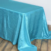 "90x156"" Turquoise Crinkle Crushed Taffeta Rectangular Tablecloth"