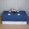 "90x132"" Dark Blue Faux Denim Polyester Rectangular Tablecloth"
