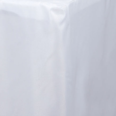 4FT Fitted WHITE Wholesale Polyester Table Cover Wedding Banquet Event Tablecloth