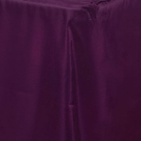 6FT Fitted EGGPLANT Wholesale Polyester Table Cover Wedding Banquet Event Tablecloth